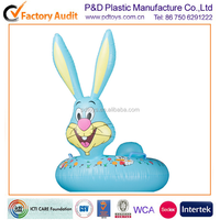 Inflatable speaker cute rabbit baby water seat with handles