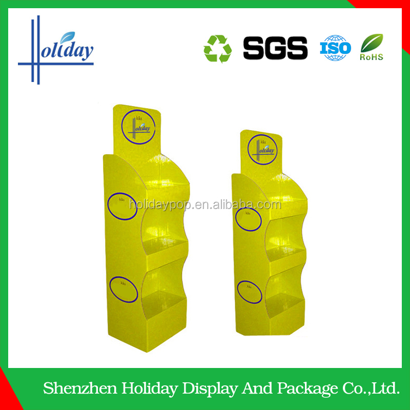 Durable cardboard honey candy retail display stand racks