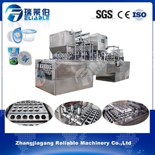 New style automatic mineral water yoghurt cup filling and sealing machine