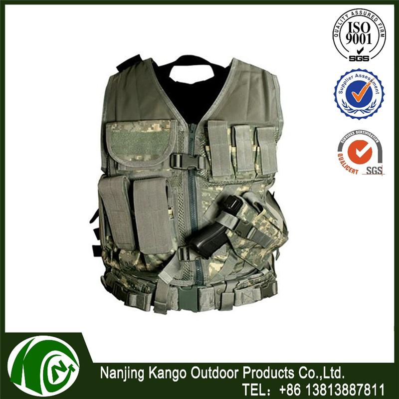 K-ANGO Mexican Market Customer Preference Fashion Design fashion body fit tactical hunting vest multicam camo