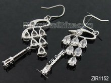 2012 new style animal shaped zircon earring with copper base white approx 60mm