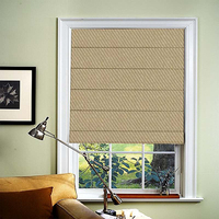 Fabric Roman shades window blinds for living room office conference