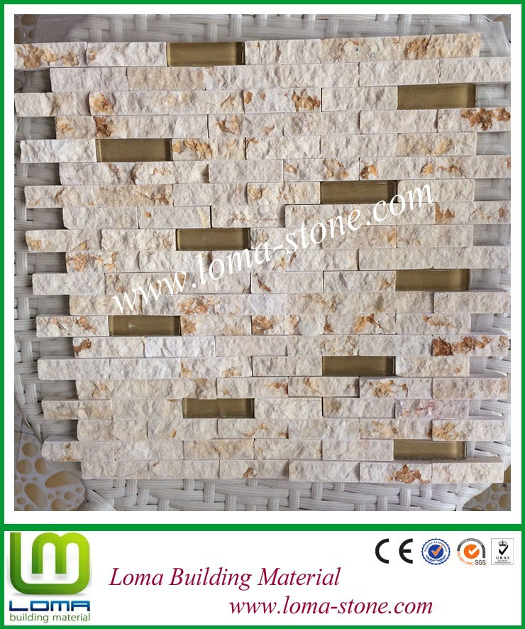 Loma hot sale quartzite stone mosaic, glass mosaic tile
