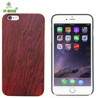 Wholesale hard real wood cell phone wooden case for iphone 6