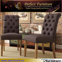 button tufted back Italian leather dining chair PFC41040