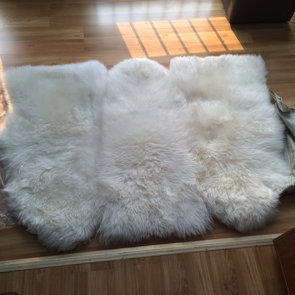 Large White Genuine Australian Sheepskin Rugs Modern