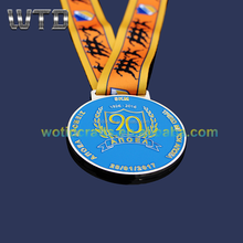 Custom metal military medal with ribbon WM739