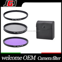 3 Pieces 77mm UV+FLD+CPL SLR Camera Lens Filter Kit With Filter Case Pouch for Sony Nikon Pentax Digital SLR Camera