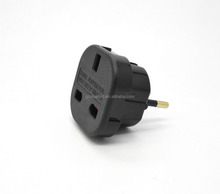 Best selling alibaba china 2015 female to male smart electrical plug adapter uk to euro plug adapter CE