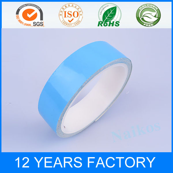 Factory Supplies Blue Stronge Adhesion Double Side Fiberglass Thermal Adhesive Tape