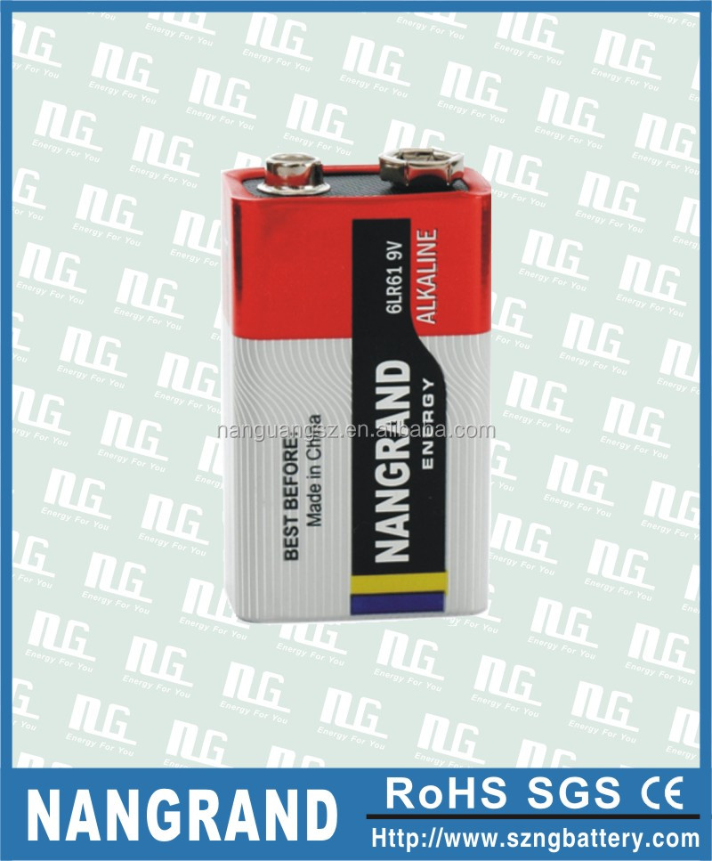 9v size alkaline battery 6lr61
