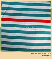 slub twill stripe printed cotton fabric