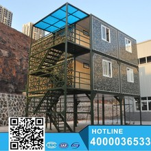 Latest design Stackable 20ft Flat Pack Container House Prefab Hotel on sale