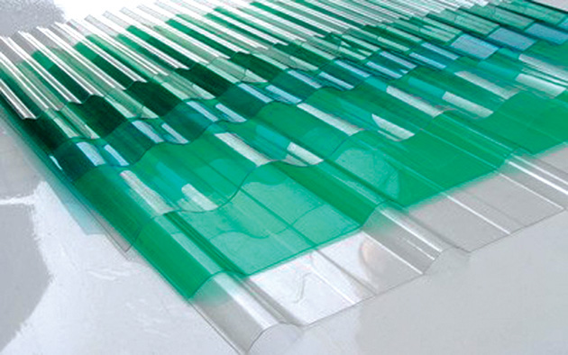Transparent and colored polycarbonate corrugated plastic roofing sheets for greenhouse