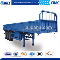 CIMC heavy duty trailer chassis 60ton sidewall detachable cheap cargo trailer for tractor