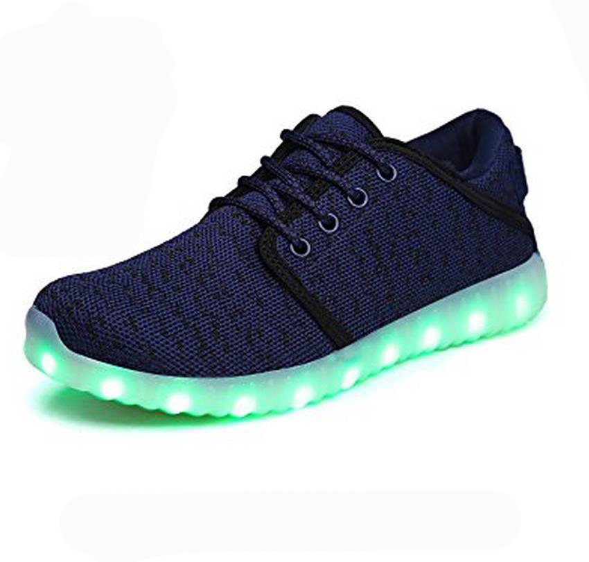 Vipfox Thicker Cloth And Inside The Fabric Double Yeezy Light Up Led Shoes Men Women
