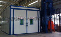 ce approved sand blasting room for container surface cleaning