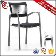 Modern design stackable plastic office chair 1505E-38B with cheap price in China