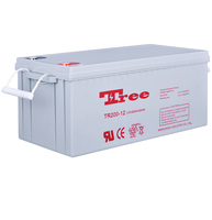 Free Maintenance solar cell 12v 200ah vrla battery 12v wind turbines battery Manufacturer