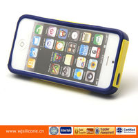 Soft gel silicone case with PC cover new silicone case for iphone 5