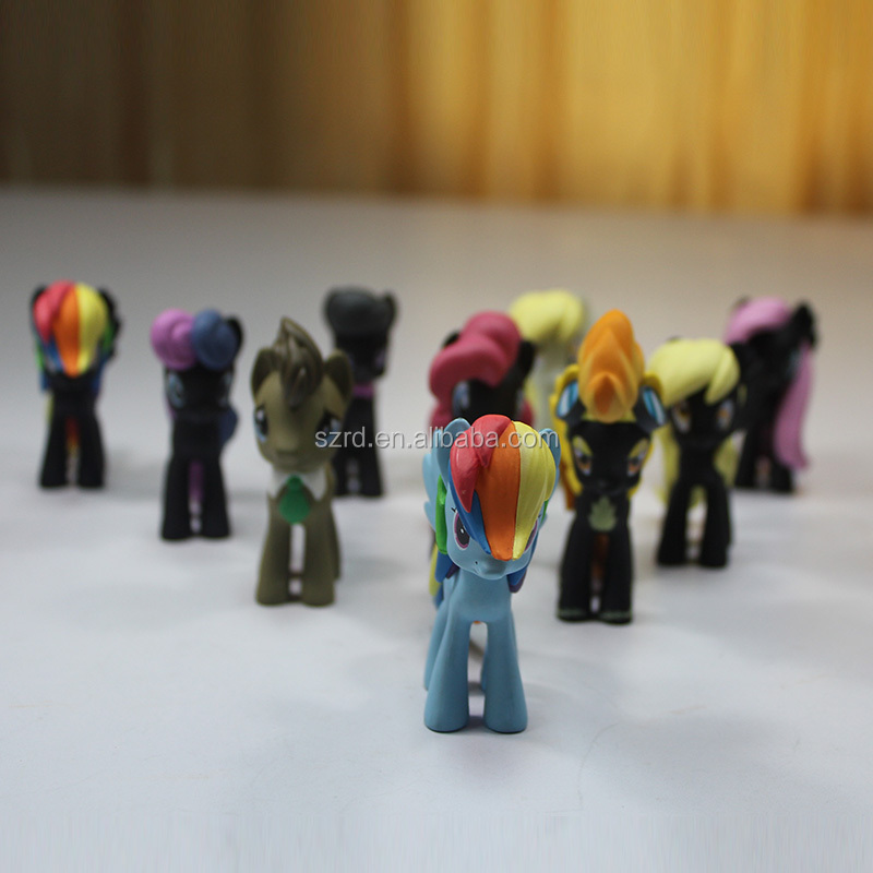 lovely my little pony toy/custom cartoon pvc plastic action figure for kid in oem manufacturers