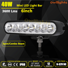 Good quality!!car accessories motorcycles atv Waterproof IP68, 40w led driving light daytime running 40w light bar