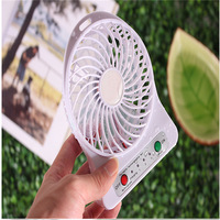 mini usb fan strong wind 2016 Rechargeable Fan USB Portable Desk Mini Fan for Office USB electric air conditioner made in China