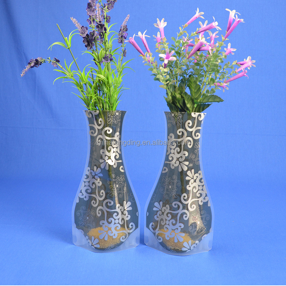 Clear Decorative Vase (trilaminated plastic layers-PET/PA/LDPE)