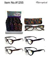 #1255 Custom color design reading glasses 2017 new products