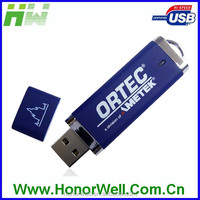 Plastic PEN DRIVE WITH LOGO UP001 Blue