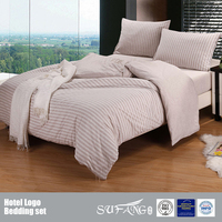 Light Coffee Color Knit Bedding Set/Cotton Jersey Duvet Cover Sets/Comforter/Fitted Sheet Wholesale Made In China
