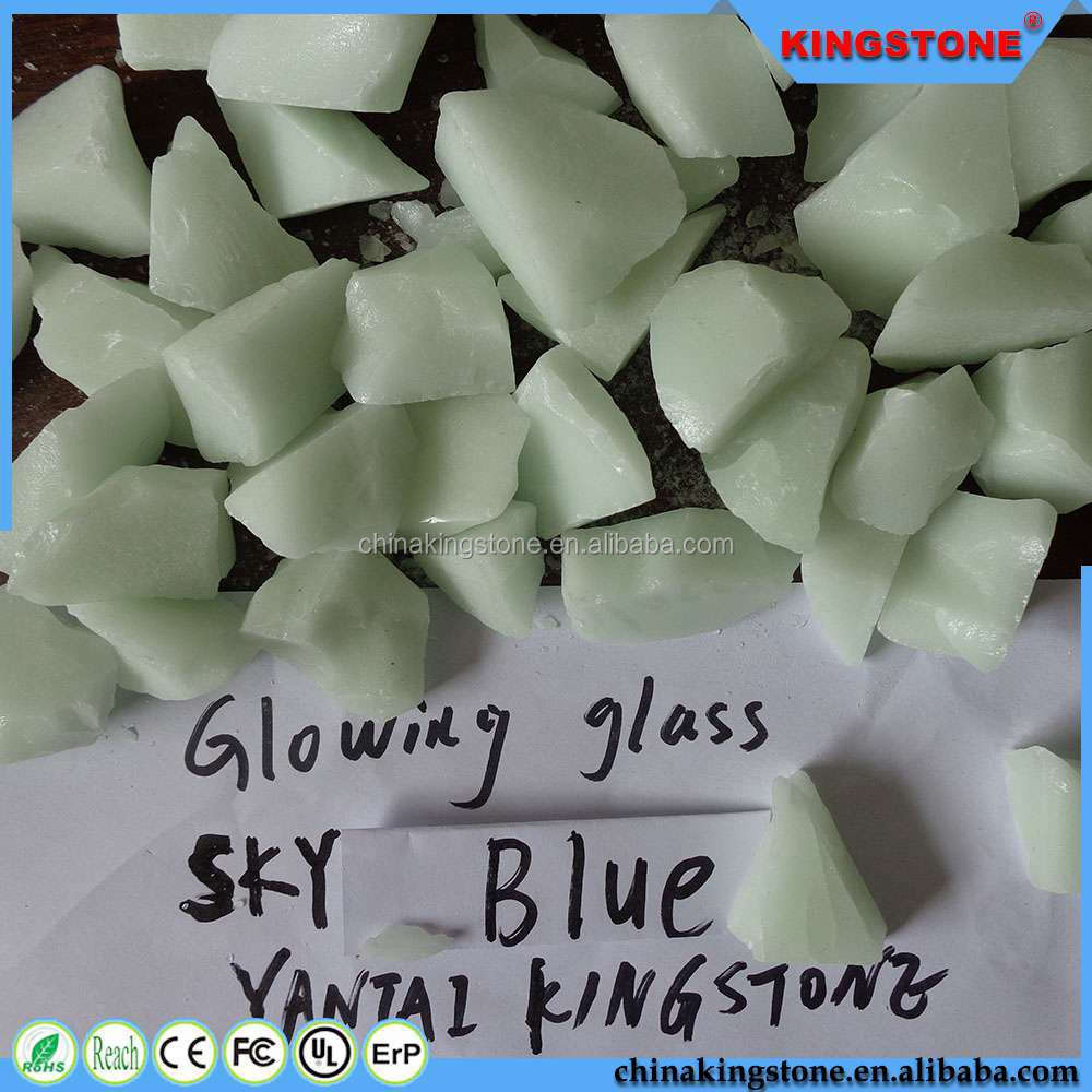 Factory price 1-12mm glowing glass chips,1-12mm glowing low price building glass windows