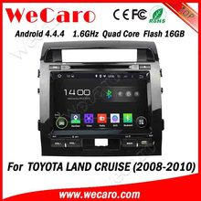 "Wecaro android 4.4.4 car dvd Direct factory 9"" for toyota land cruiser 200 car radio with gps Wifi&3G USB SD 2008 2009 2010"