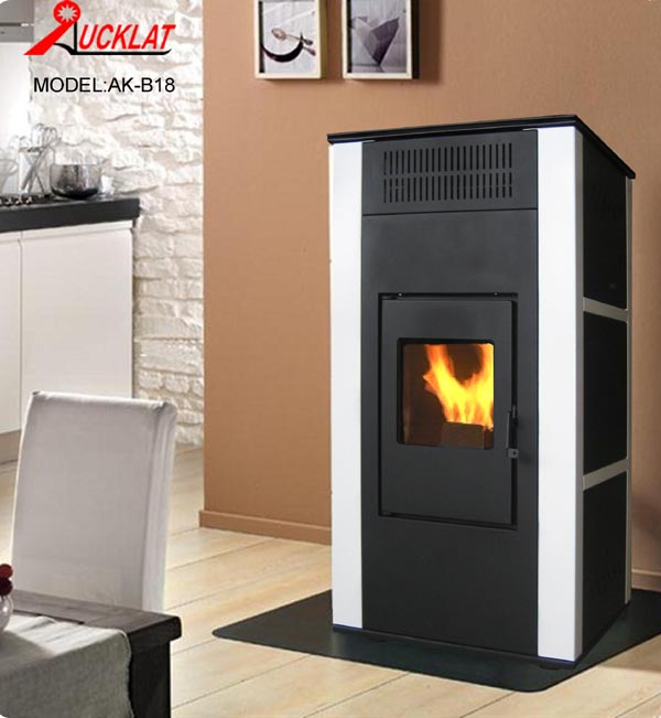 Biomass boiler wood pellet stove water and air heating