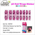 Pink Flower and Butterfly Design Adhesive Nail Stickers Easy Nair Art 3D Nail Wraps