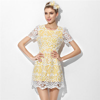 The new high-end women's boutique summer dress ,detachable lace sleeves for wedding dress