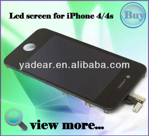 Mobile phone for iphone 4s lcd with touch in china supplier