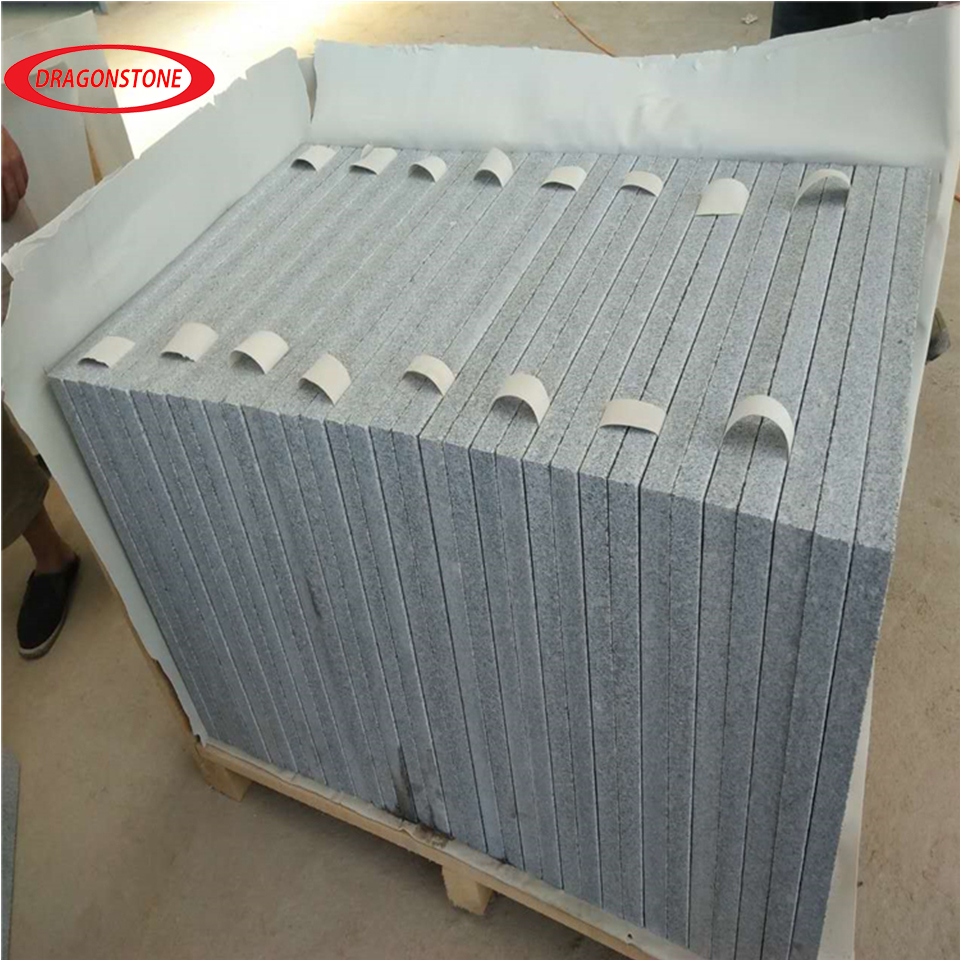 China granite G603 honed granite tile for kitchen wall
