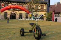 Ride on metal pedal tricycle for kids
