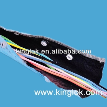 Cable Sleeving Aluminum Foil Tubes Cable Managenment Button Tubes