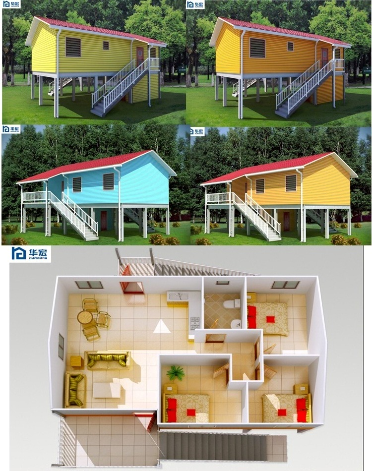 Nice designed customized earthquake-proof cheap fast assembled home design