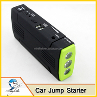High Capacity Portable Mini Car Jump Starter 12000mAh 12V Booster Charger Mobile Power Supply