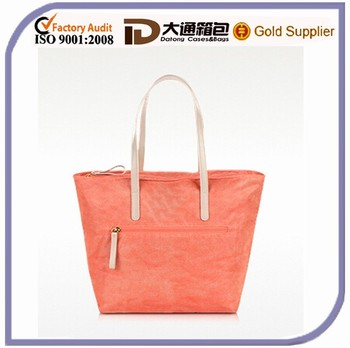Orange Fashion Plain Women's Shopping Bag