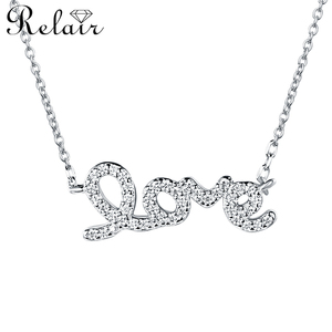 Wholesale elegant women accessories 925 sterling silver forever lover choker necklace chain fashion jewelry
