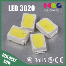 Harvatek specification 2800-3500k led smd 3020 led diode