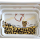 Plastic Melamine Fast Food Serving Tray With Handles
