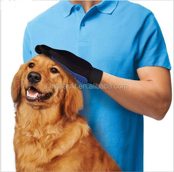 Alibaba Wholesaler Five Finger Pet washing Glove Dog Grooming Brush