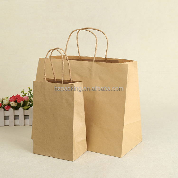 Custom printing fashion luxury gift shopping Large Kraft Paper Bag For Packing