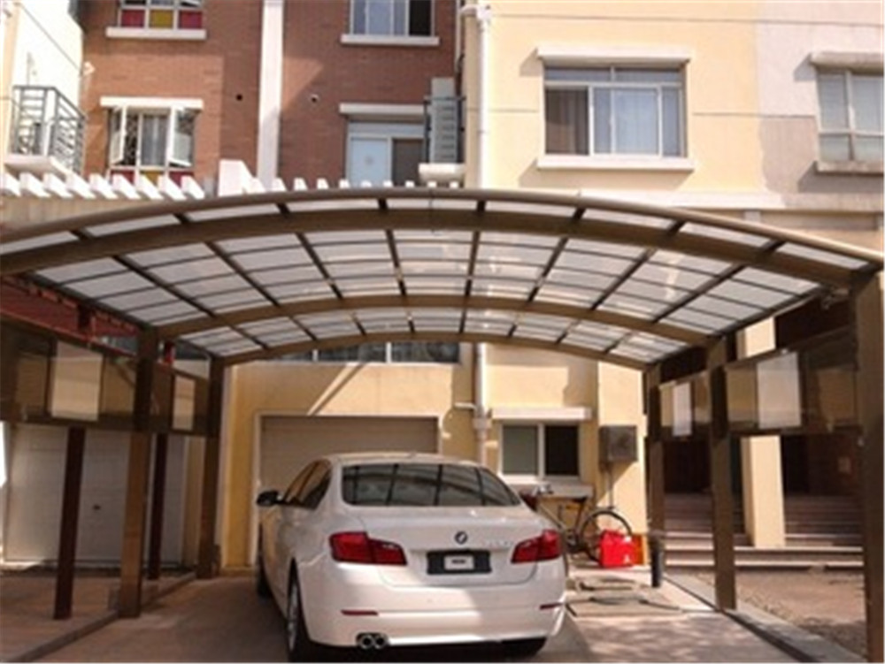 Steel Aluminium Single Plue Tube Slope Used Carports For Sale