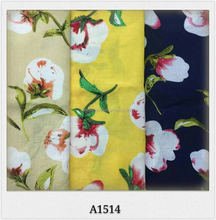 hot sell stock rayon/viscose reactive printing fabric for garment 45*45 100*80